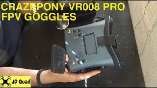 Crazepony VR008 Pro FPV Goggles Overview
