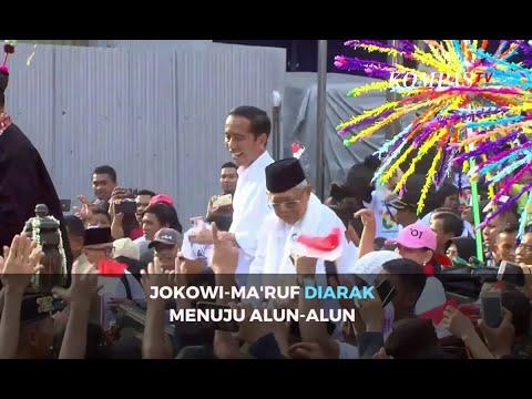 Jokowi-Ma'ruf diarak ke Alun-Alun Tangerang