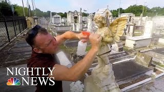 Man Honors Veterans By Cleaning Their Headstones | NBC Nightly News