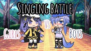 Singing Battle ll solo+ duel ll Gacha Life