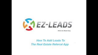 2.  How To Add Leads