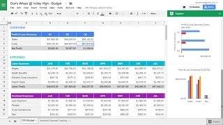 Vidéo de Google Sheets