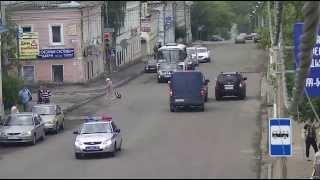 *ДТП в Серпухове. Проезд на красный и попытка дачи взятки... 10 июня 2015г.