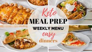 EASY KETO MEAL PREP RECIPES   EASY KETO DINNER RECIPES AND WEEKLY MENU