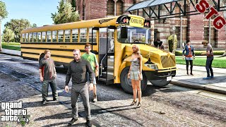SCHOOL BUS ROAD TRIP  NIKO BELLIC AVERAGE JOE  #11 (GTA 5 REAL LIFE MODS)