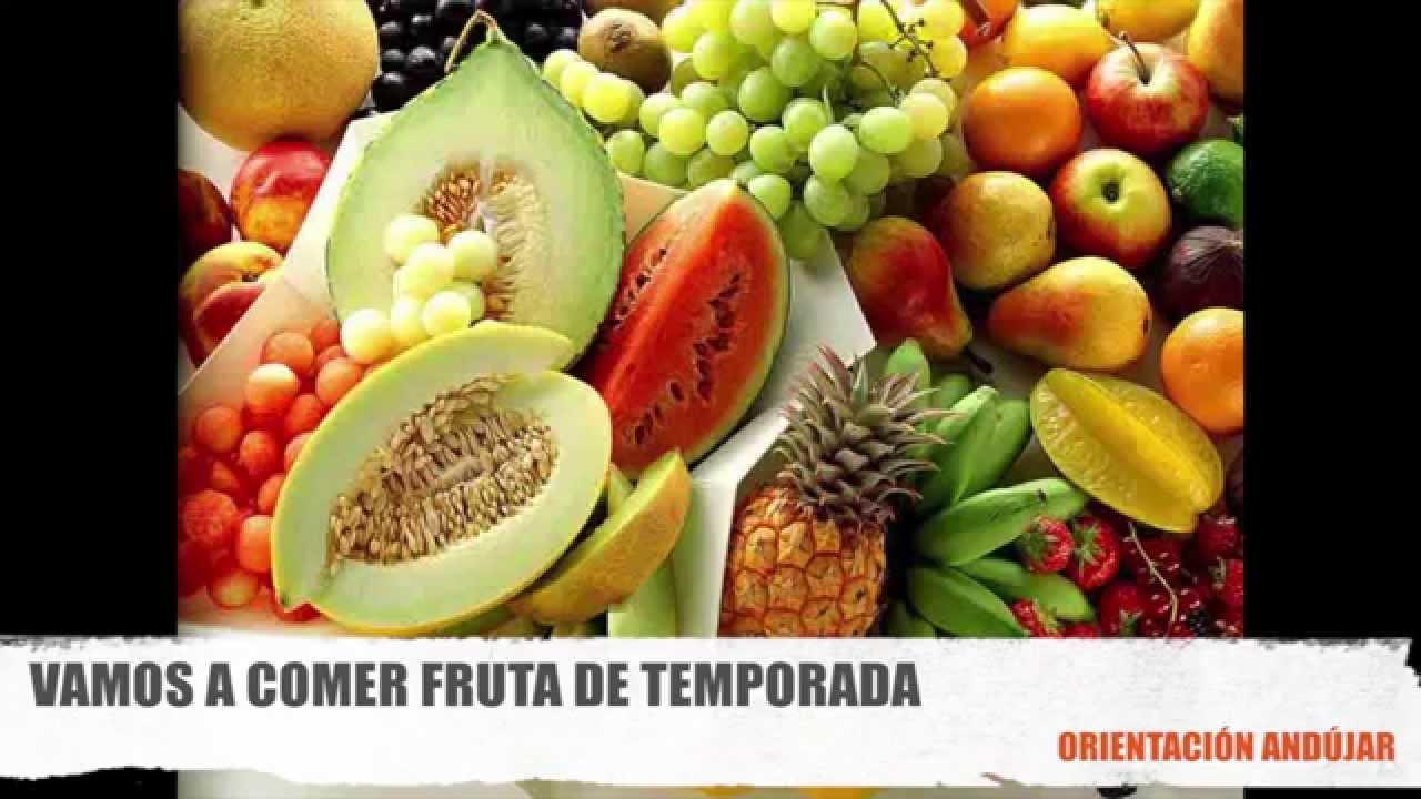 Dieta equilibrada come fruta de temporada