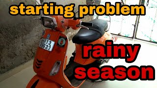 How to solve engine starting problem in vespa 150 | mr automobiler
