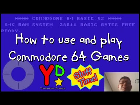 How to run load games on the commodore 64 C64 - смотреть