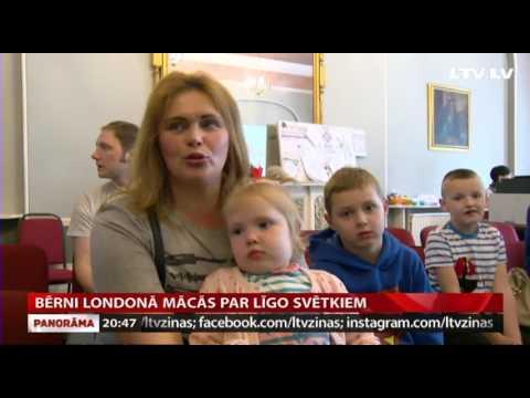 VIDEO: Bērni Londonā mācās par Līgo svētkiem
