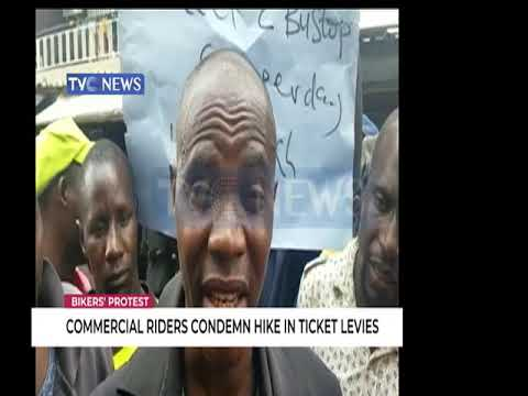 Motorcycle riders in Lagos protest over hike in ticket price