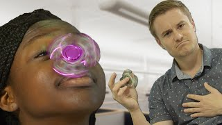 People Try Their Best Fidget Spinner Tricks