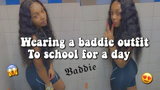 GRWM : Wearing A Baddie Outfit To School For A Day | Dsoar Hair