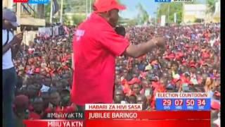 Uhuru Kenyatta apeleka kampeni zake kaunti ya Baringo