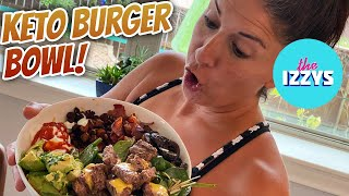 Keto Burger Bowl! CHAOTIC COOKING WITH STRIDOR
