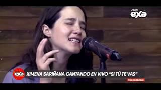 """Ximena Sariñana En Acústico, Cantando """"Si Tú Te Vas"""""""