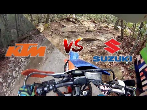 DRZ400 vs KTM 350 EXC-F in Tight Technical Terrain. The ultimate dual sport?