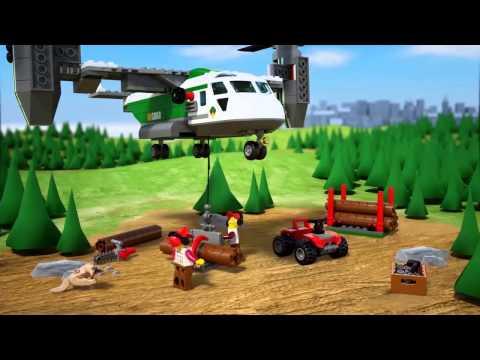 Vidéo LEGO City 60021 : L'avion cargo