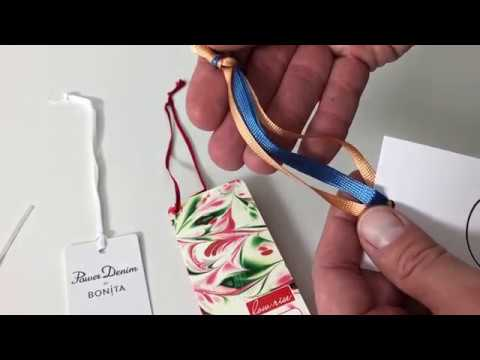 Waren- und Produktanhänger mit Litze o. Band | Hängeetiketten drucken