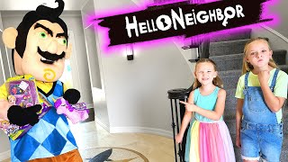 Hello Neighbor in Real Life Caught IN THE ACT!!! Polly Pocket Toy Scavenger Hunt!!!
