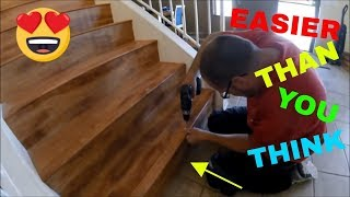 LAMINATE ON STAIRS HOW TO