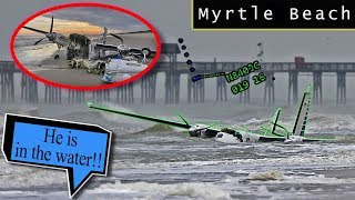 Commander crashes into the Atlantic Ocean waters of Myrtle Beach!