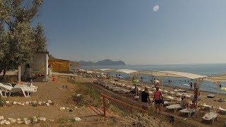 Пляж Солнечной Долины. Прибрежное. Дорога на пляж из Судака. Крым 2017.