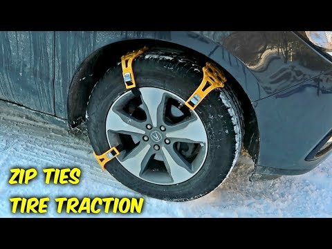 Zip Ties Tire Traction Gadgets