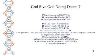 God Siva God Natraj Dance Part 1