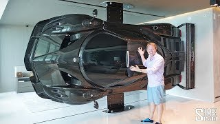 There's a Pagani Zonda R in the LIVING ROOM!