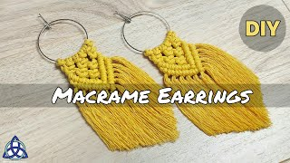 DIY | Most POPULAR Macrame Earrings On INSTAGRAM | Macrame Jewelry