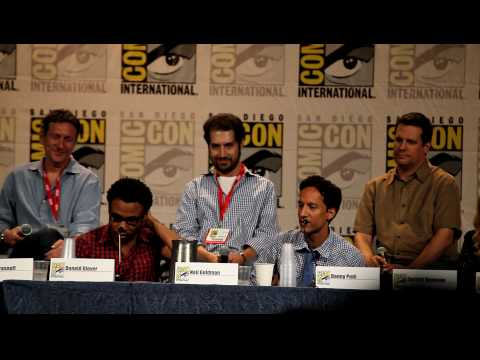 "Abed and Troy (Donald G. and Danny P.) ""La Biblioteca"" rap - Comic-Con, Community Panel, SDCC 2010"