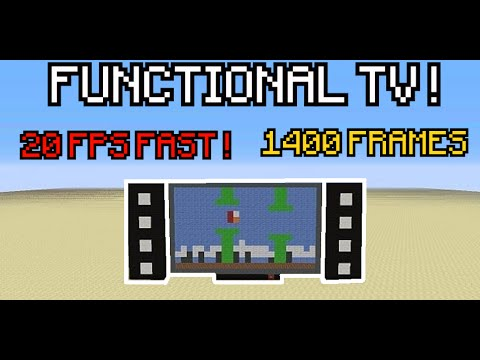Colored Tv 20 Fps Film 1400 Frames And Sound Minecraft Project Minecraft Colors