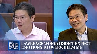 Lawrence Wong: I didn't expect emotions to overwhelm me | The Straits Times