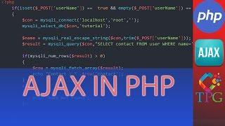 PHP AJAX Tutorial