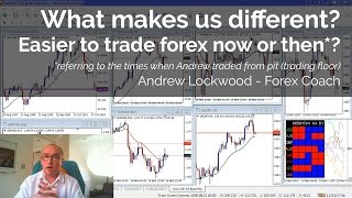 Easier to trade forex now or then (trading floor/pit times)