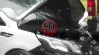 Сегодня днём произошло ДТП в п. Глубокая Щель по улице Центральная.