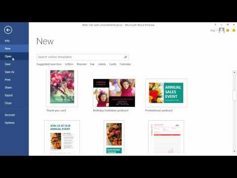 Getting Started with Office 2013 Tutorial | The New Word Layout ...