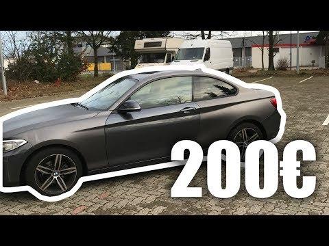 200€ Vollfolierung Auto Folie von Amazon in Grau Matt günstige DIY