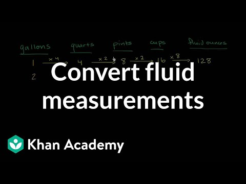 Converting US customary units of volume (video) | Khan Academy