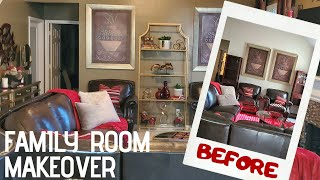 Family Room Home Decorating Ideas|Extreme Makeover On A Budget|Luxury Living Room Transformation.