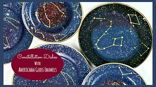 DIY Galaxy Print Dishes