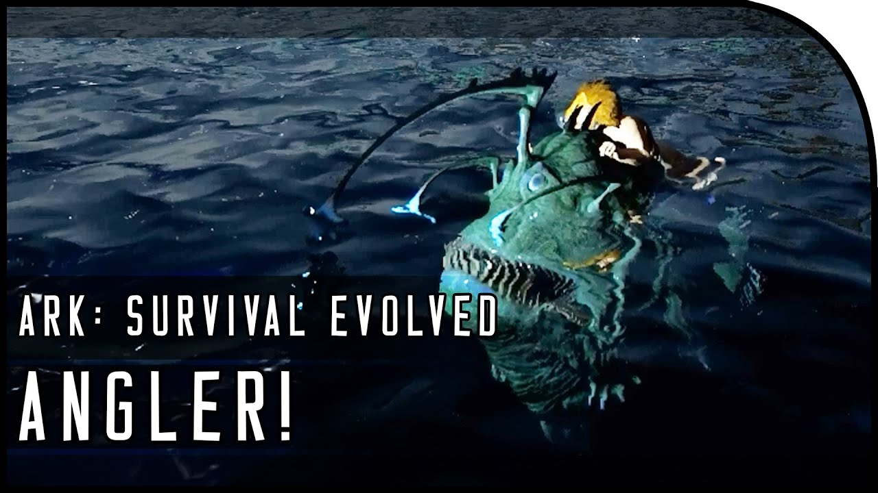 Video ARK: Survival Evolved ANGLER GAMEPLAY! (SCARY CREATURE OF THE DEEP!)