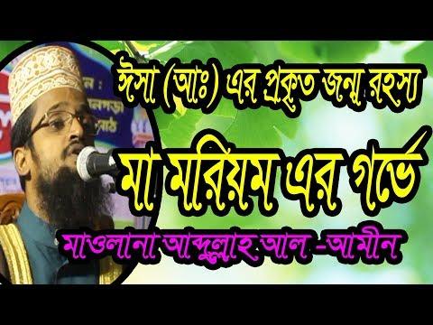মা মরিয়ম এর গর্ভবতী হওয়ার গোপন রহস্য mawlana abdullah al amin saheb