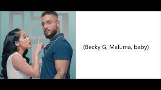 Becky G Ft. Maluma    La Respuesta LetraEnglish Lyrics