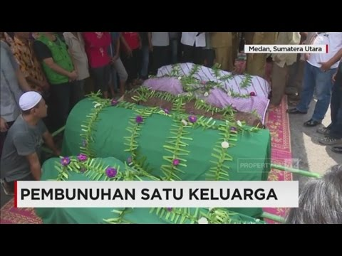 Pemakaman Satu Keluarga Korban Pembunuhan di Medan