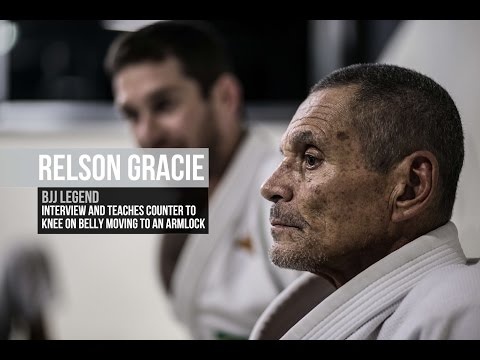 Relson Gracie talks about his father Helio Gracie, and teaches a counter to knee on belly