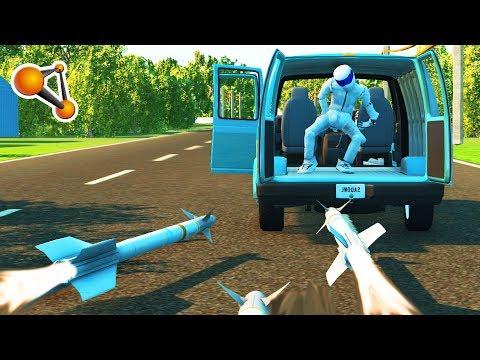 ROCKET vs CARS Crash (Rocket Ride Crashes) Beamng Drive