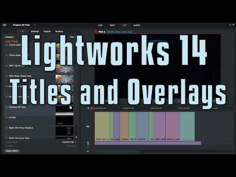 Lightworks 14 Titles and Overlays
