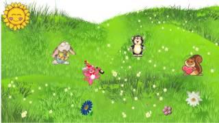 """Анимационное рисованное видео """"Веселая полянка"""""""