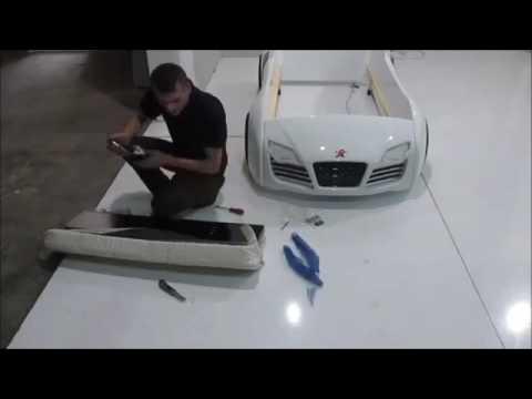 Kinder Autobett Turbo V8 Montagevideo Kinderbett Jungs LED
